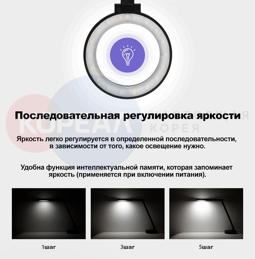 яркость светильника