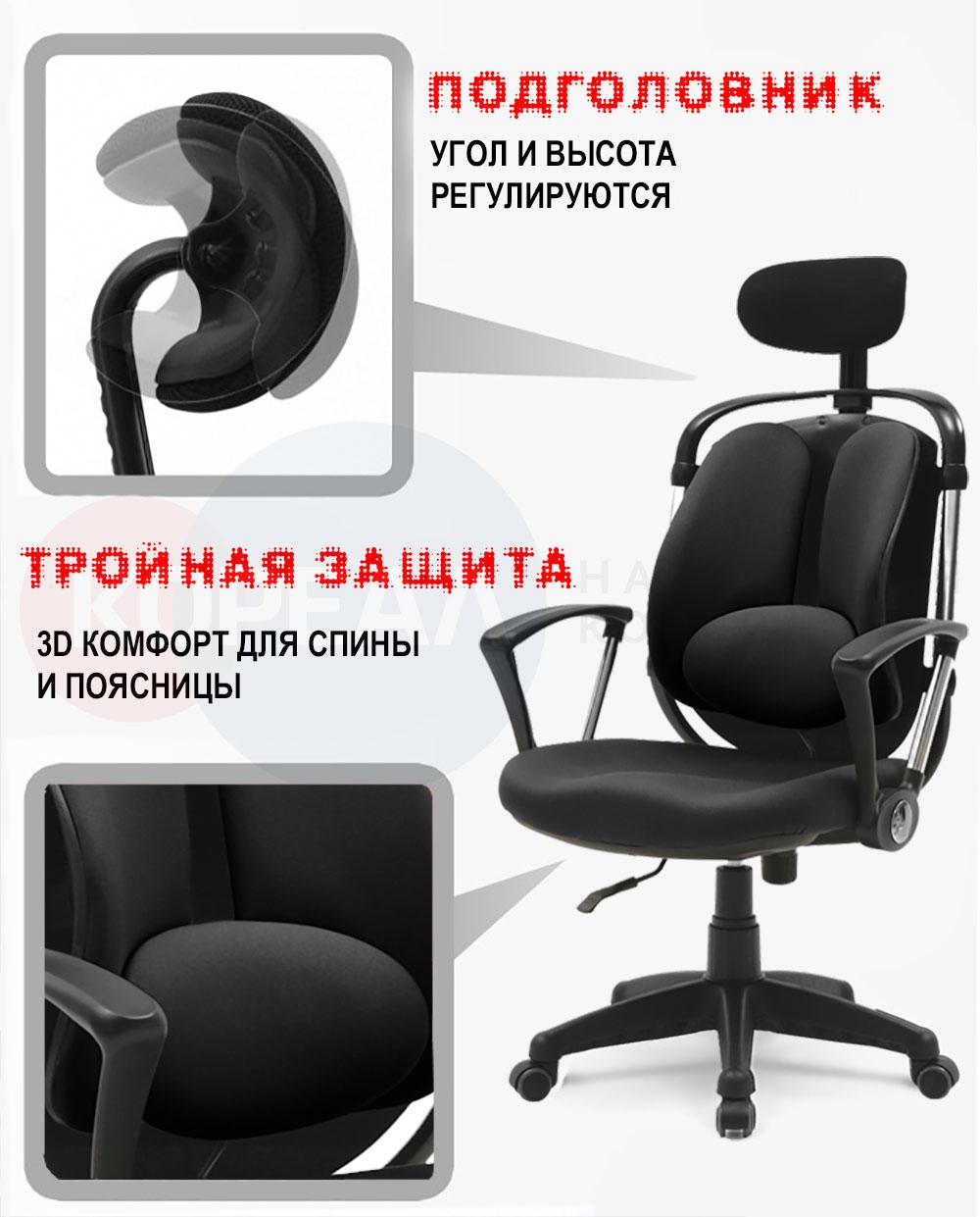 особенность ортопедического кресла с защитой спины