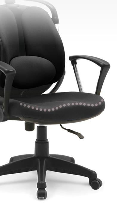 удобное офисное кресло с сидушкой волновой для коленей